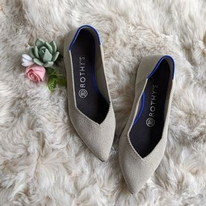 Rothy's The Point flats in flax white gray 6.5